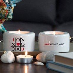 комплект свещници за влюбени