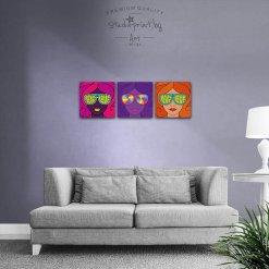 3 картини на канава