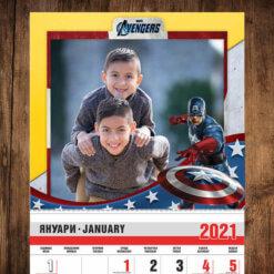 календар за момчета avengers