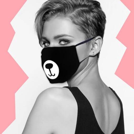 маска за лице - дизайн мече